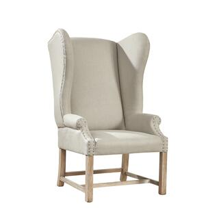 See Details - Grand Linen Wingback Chair