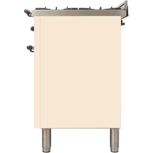 48 Inch Antique White Dual Fuel Liquid Propane Freestanding Range