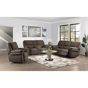 Allyn Power Sofa & Console Loveseat W/usb Power Outlet Grey