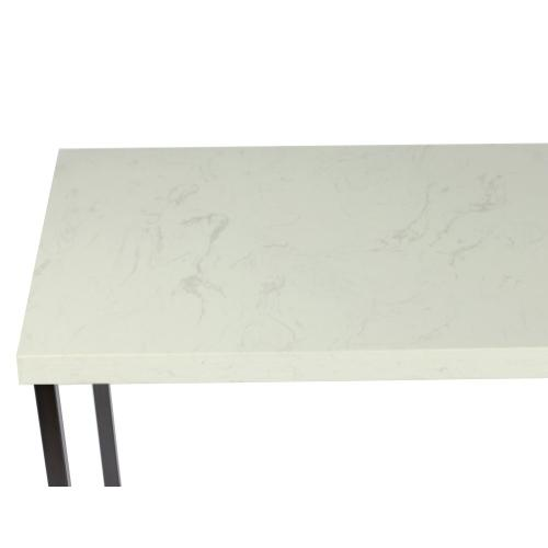 Emerald Home Kiara T533-02 Sofa Table Rta With Marble Top