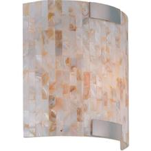 Wall Sconce, Ps/shell Mosaic Shade, E12 Type B 40w