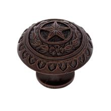 "Old World Bronze 1-3/8"" Texas Star Knob"