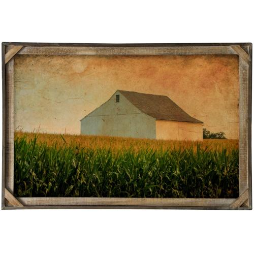 Style Craft - Late Days  Textured Framed Print  36in X 24in