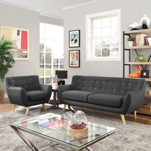 Modway - Remark 2 Piece Living Room Set in Gray