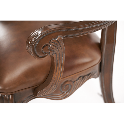 Leather/Fabric Arm Chair