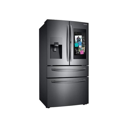28 cu. ft. Family Hub 4-Door French Door Refrigerator in Black Stainless Steel
