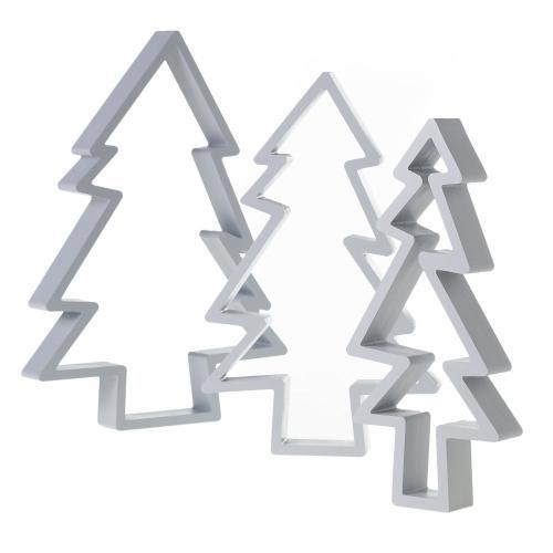 "15""x 2""x 20"" -Set of 3 Offbeat Christmas Tree"