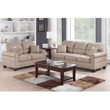 Marwa 2pc Loveseat & Sofa Set, Sand