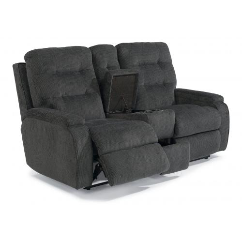 Kerrie Power Reclining Loveseat with Console