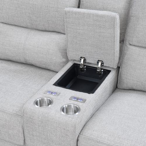 Medford Power Sectional w/  Full Sleeper w/ Memory Foam Mattress
