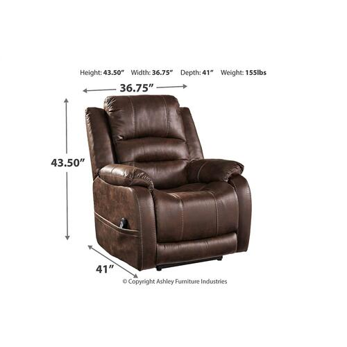Power Recliner with Adjustable Headrest and Power Lumbar