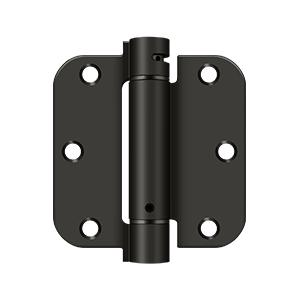 """3 1/2""""x 3 1/2""""x 5/8"""" Spring Hinge - Oil-rubbed Bronze Product Image"""