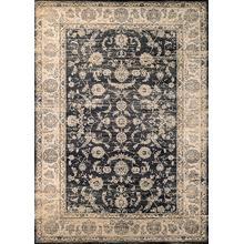 Floral Emblem - Black-Oatmeal 1142/0427