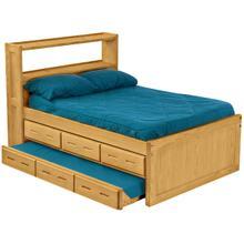 Captain's Bookcase Bed Set, Queen
