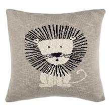 Dandy Lion Pillow - Grey / Natural / Black