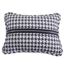 Hamilton Houndstooth Pillow W/ Piping & Zipper Detail