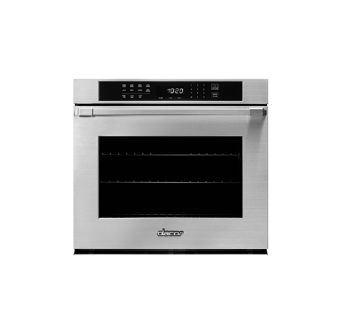 """Dacor30"""" Single Wall Oven, Silver Stainless Steel With Pro Style Handle"""