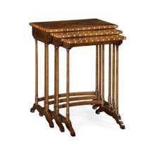 3 Nesting Tables with Faux Bone Inlay
