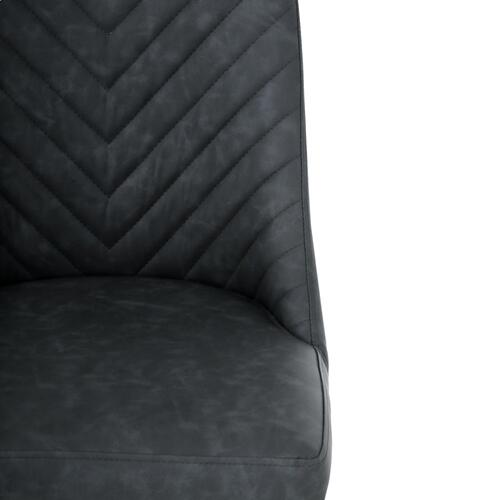 Kyla KD PU Chair Brushed Brass Legs, Element Black