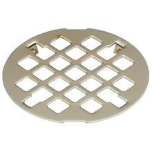 Deluxe Shower Drain Trim Grid - Stainless Steel