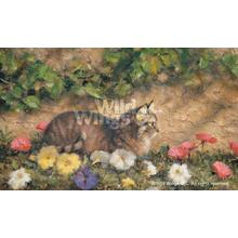 """View Product - In the Garden-Cat - Limited Edition Print 12""""H x 20""""W"""