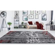 "Durable Flat Weave No Shedding Lifestyle 800 Area Rug by Rug Factory Plus - 7'6"" x 10'3"" / Red"