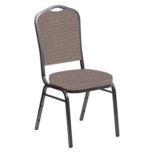 Crown Back Banquet Chair in Sammie Joe Husk Fabric - Silver Vein Frame