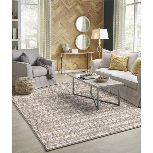 "Cosmopolitan Flirt Brushed Gold 2' 4""x7' 10"" Runner"