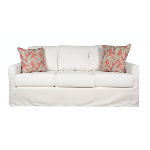 Track Arm, Plush Depth, Three Cushion, Slipcover Sofa.