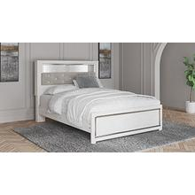 Altyra Queen Upholstered Panel Bookcase Headboard