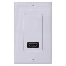 Single HDMI wall plate