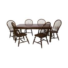 DLU-ADW4276-C30-CT7PC  7 Piece Andrews Butterfly Leaf Dining Set  Chestnut