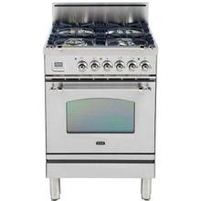 See Details - Nostalgie 24 Inch Gas Natural Gas Freestanding Range in Stainless Steel with Chrome Trim