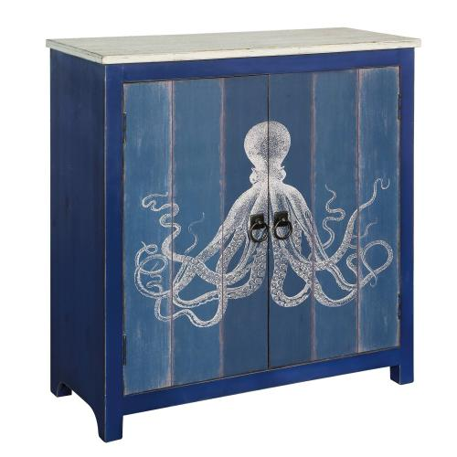 Crestview Collections - Ocotopus 2 Door Deep Blue Cabinet