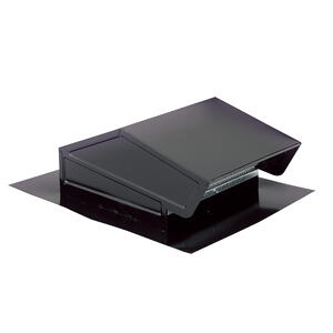 """BestSteel Roof Cap for 3-1/4"""" x 10"""" or up to 8"""" Round Duct with Backdraft Damper and Bird screen, Black"""