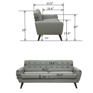 Daphne Purple Sofa