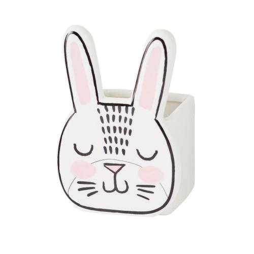 "2.75""x 4.75"" Bashful Bunny Pot"