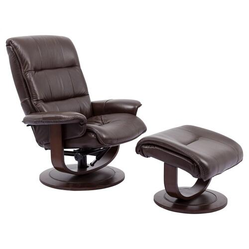 KNIGHT - ROBUST Manual Reclining Swivel Chair and Ottoman