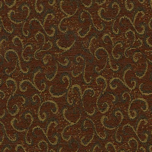 Flash Furniture - 18.5''W Church Chair in Lancaster Rust Fabric - Gold Vein Frame