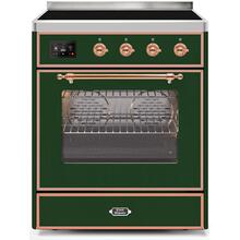 Majestic II 30 Inch Electric Freestanding Range in Emerald Green with Copper Trim