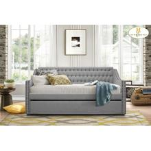 Daybed with Trundle Grey Finish