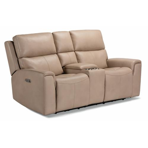 Gallery - Jarvis Power Reclining Loveseat with Console and Power Headrests