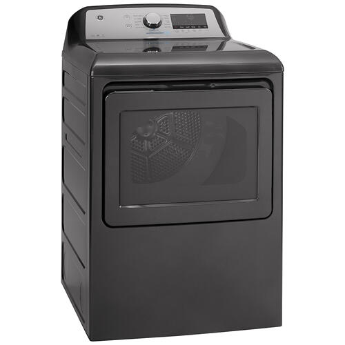 GE® 7.4 Cu. Ft. Capacity Gas Dryer with Built-In Wifi Diamond Grey - GTD84GCMNDG