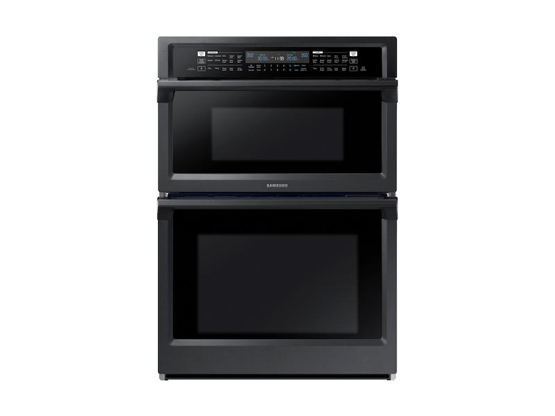 """Samsung30"""" Smart Microwave Combination Wall Oven With Steam Cook In Black Stainless Steel"""