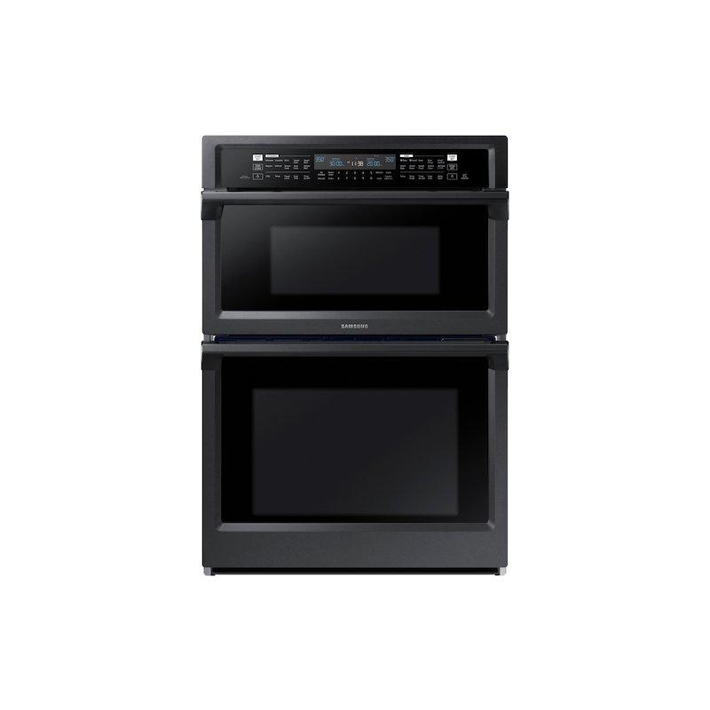 """30"""" Smart Microwave Combination Wall Oven with Steam Cook in Black Stainless Steel"""