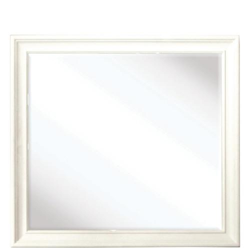 Myra - Shadowbox Mirror - Paperwhite Finish