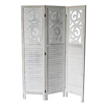 7036 GRAY Rustic Shutter 3-Panel Room Divider