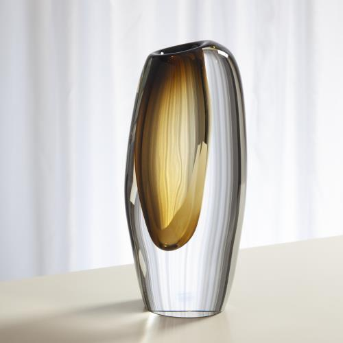 Offset Vase-Moss Green-Lg