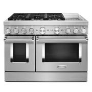 KitchenAid® 48'' Smart Commercial-Style Dual Fuel Range with Griddle - Stainless Steel Product Image