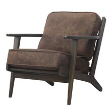 Albert Fabric Accent Arm Chair Dark Brown Frame, Mocha Hide